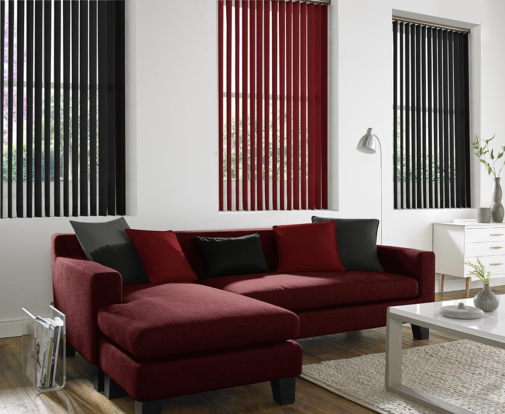 fabric upholstery blind blinds eclipse pin concrete vertical black by vector