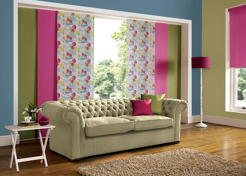 how to change vertical blinds to centre opening