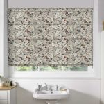 Floral-Taupe-Roman-Blind