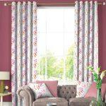 MEADOW LAVENDAR & Silky Pink curtain